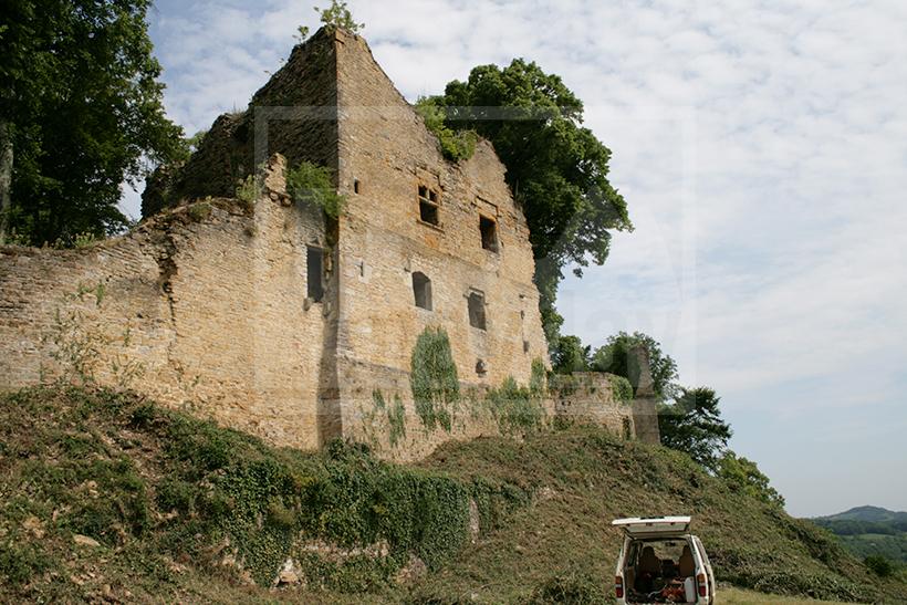 clav0009 chateau ruine vigne 4