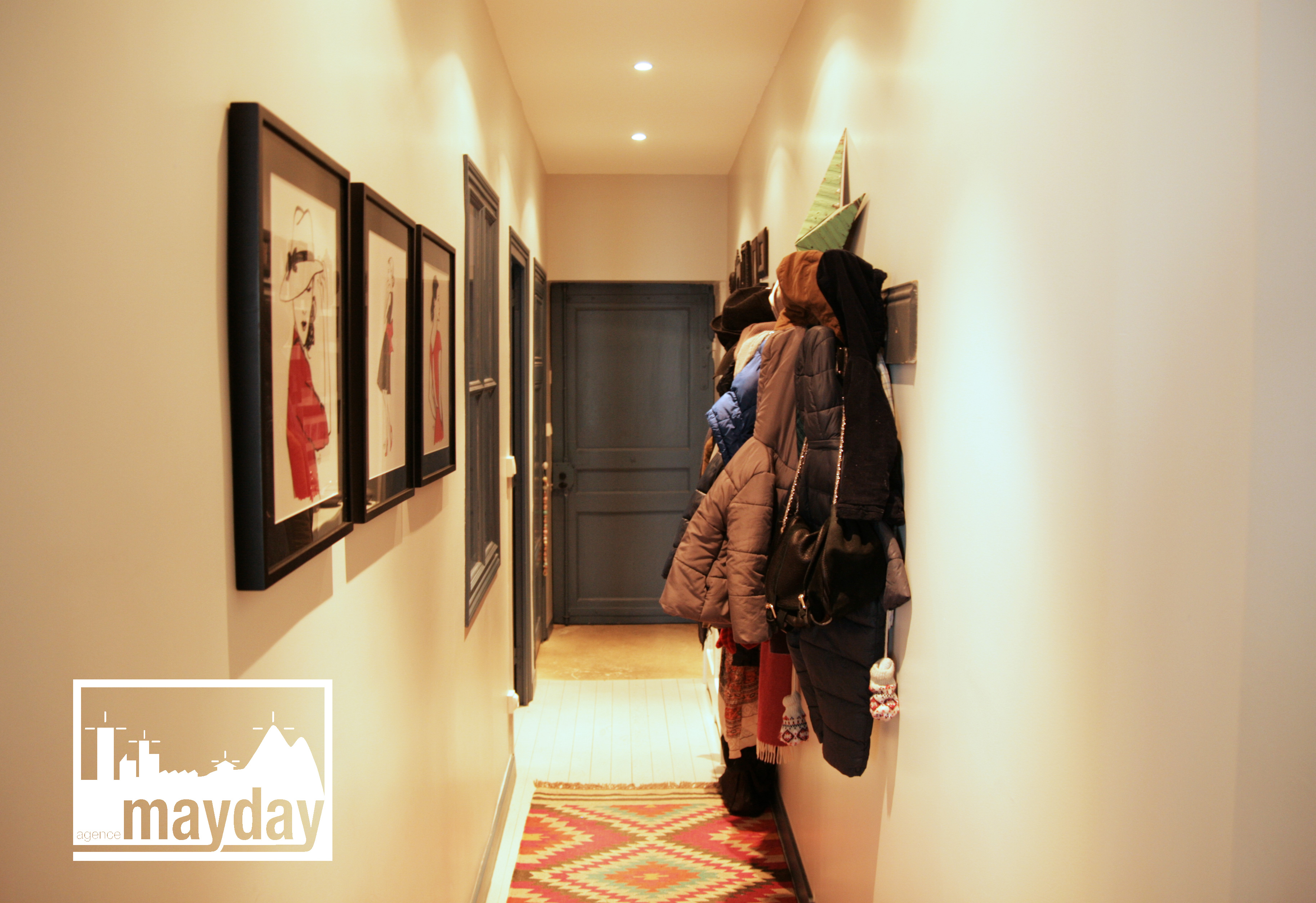 clav0013-appartement-tendance-relooke-couloir | Agence Mayday ...