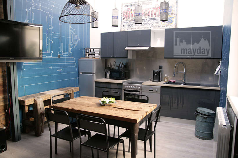 Loft studio and multiform space clav0027 agence for Cuisine loft
