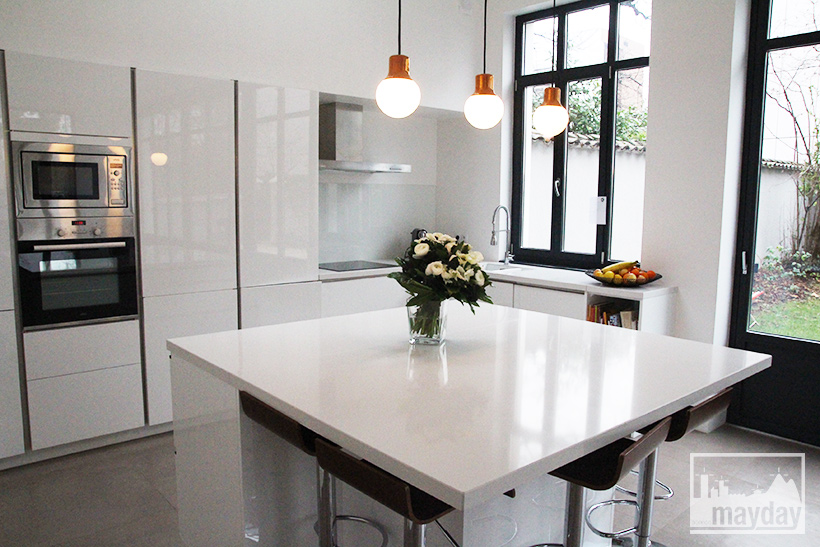 La cuisine veranda moderne clav0054a agence mayday for Maison deco cuisine