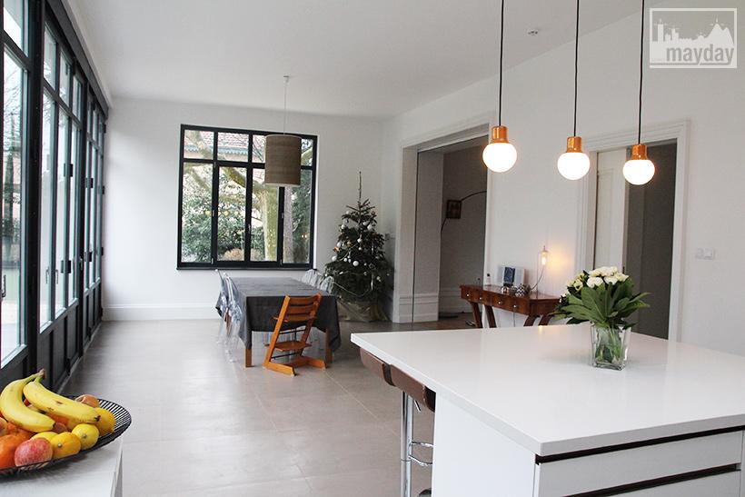La cuisine veranda moderne clav0054a agence mayday rep rage de d cors - Verriere dans cuisine ...